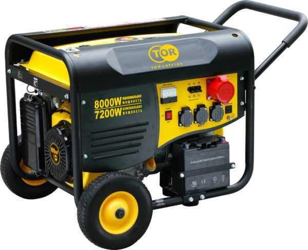 Генератор бензиновый TOR TR8500EW 7