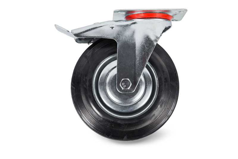 Колесо поворотное тормоз рез. SCb 80 200мм