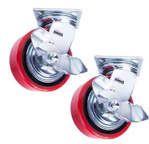 Колесо поворотн. тормоз PU/металл (C550B/PU2040CB3ra/TG) 200мм