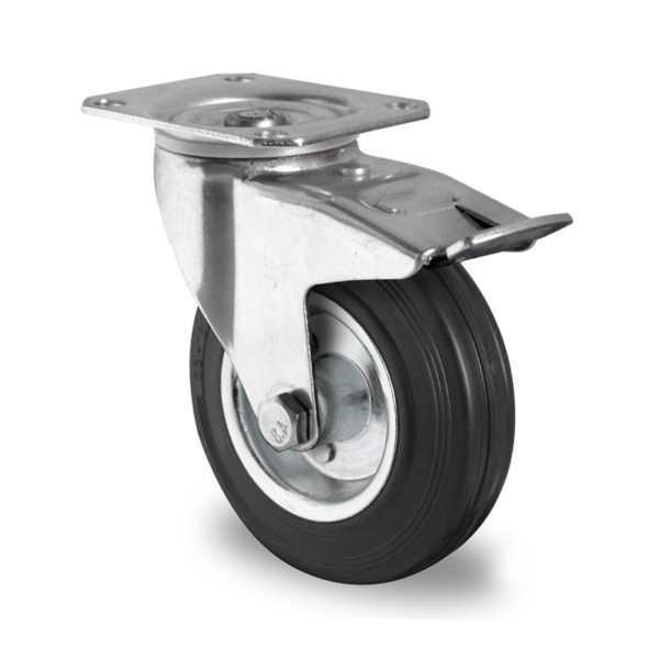 Комплект колес 200 мм для телег ТП-5 (4 пов