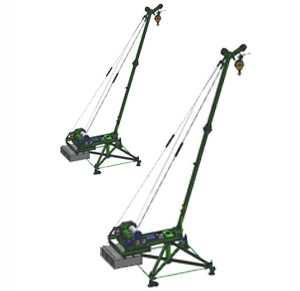 Кран стреловой поворотный 'МАСТЕР-3' 1000 кг 50 м с ручным поворотом стрелы
