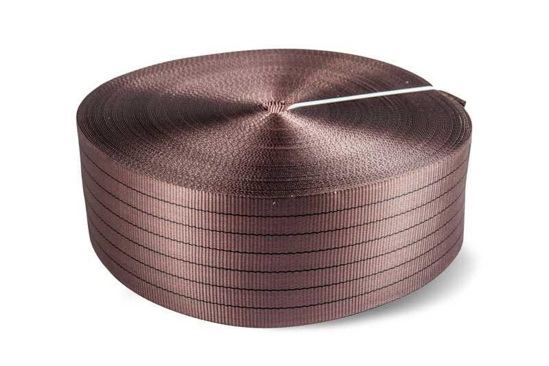 Лента текстильная TOR 6:1 150 мм 21000 кг (коричневый)