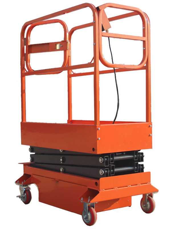 Подъемник ножничный передвижной полуэлектрический TOR GTJY 240 кг 3 м (автономный)