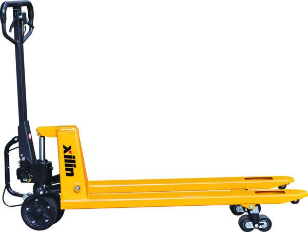 Тележка гидравлическая г/п 2500 кг XILIN BFA с механическим приводом (полиуретан.колеса)