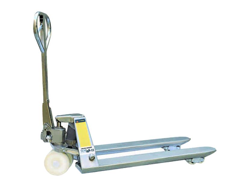 Тележка гидравлическая TOR BX 2.0T 550*1150*85mm нержавеющая сталь (нейлон.колеса)