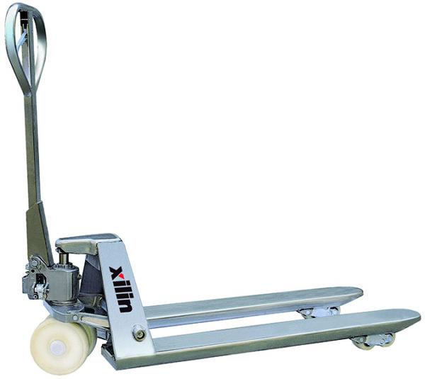 Тележка гидравлическая XILIN г/п 2500 кг BFS стальная (нейлон.колеса)