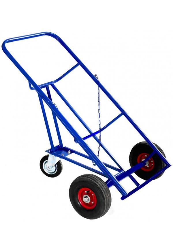Тележка для металлических бочек КБ-2 (с колесами)