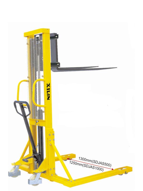Штабелер ручной гидравлический с расширенными опорами XILIN г/п 0